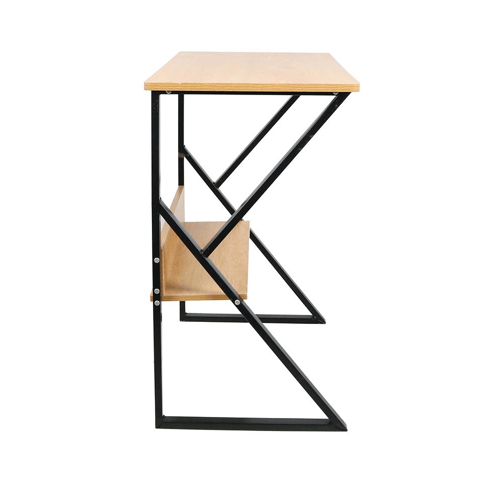 Polcos íróasztal, bükkfa/fekete, TARCAL 140