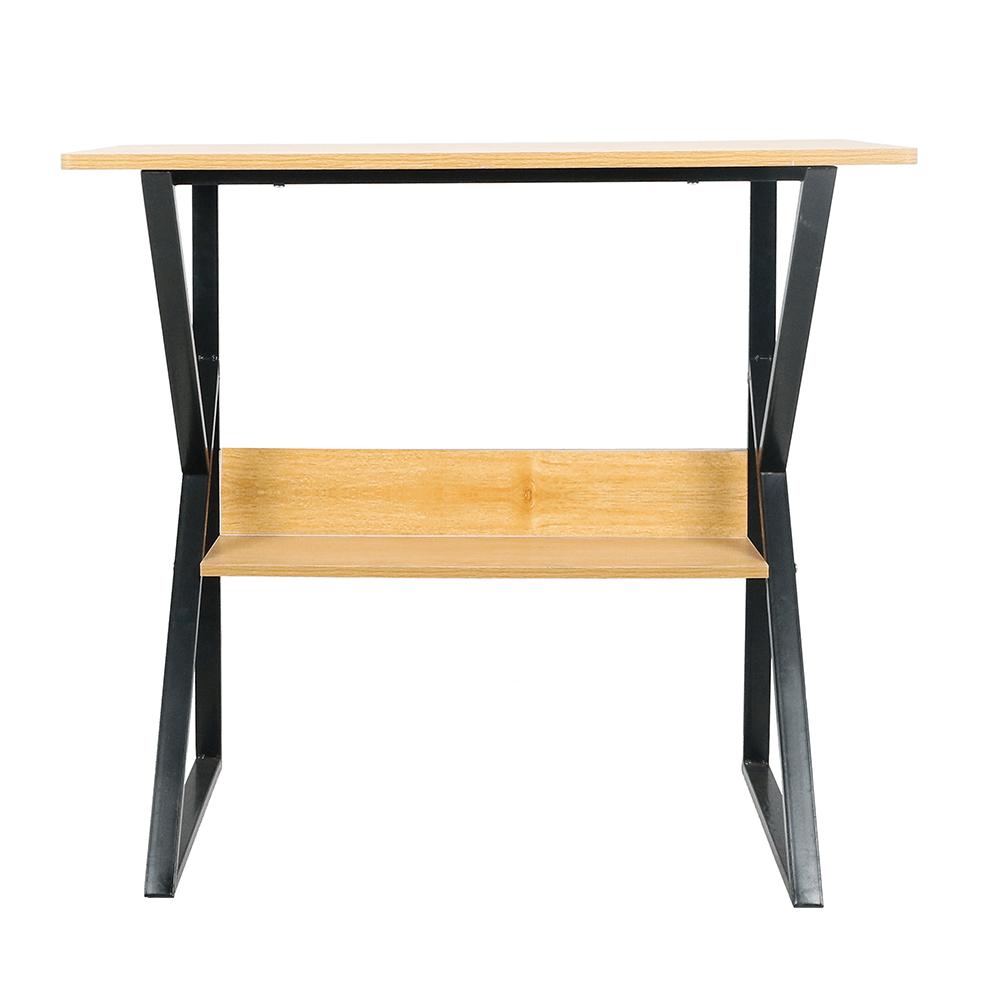 Polcos íróasztal, bükkfa/fekete, TARCAL 100