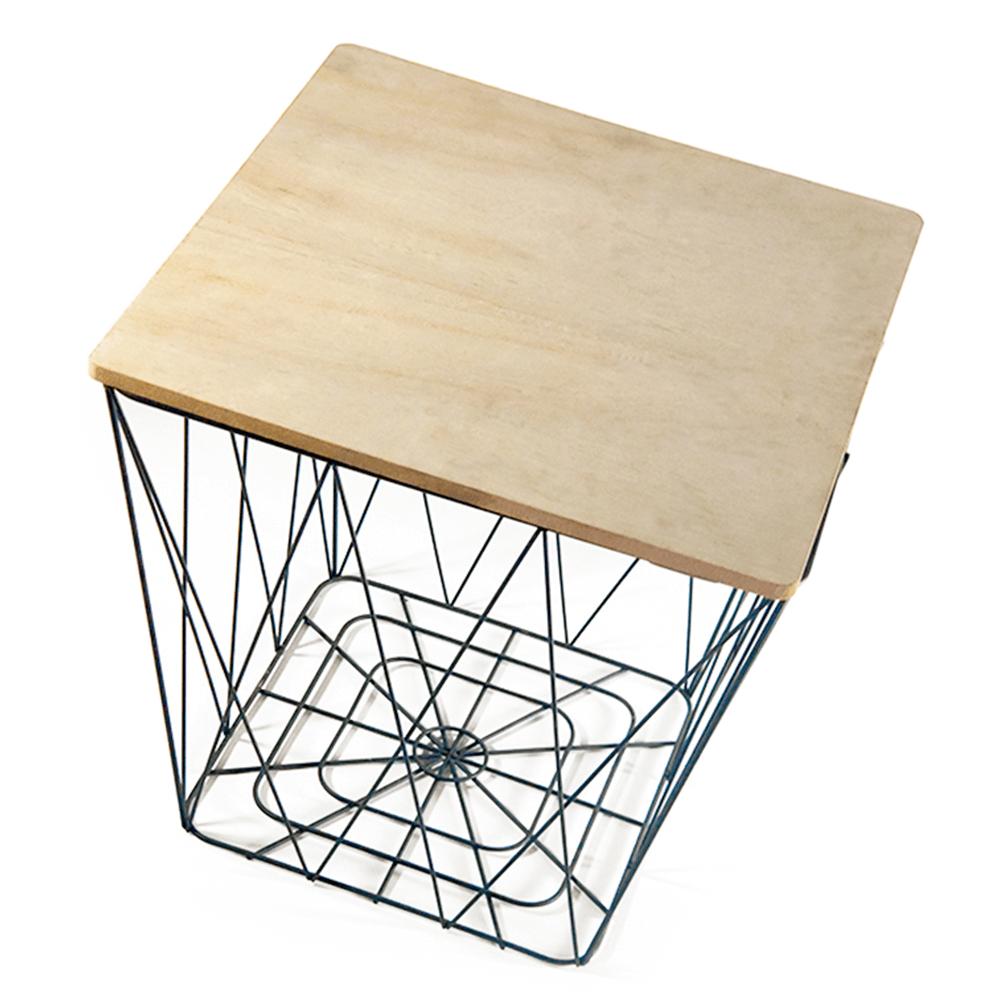 Kisasztal, natur/fekete, AZURO