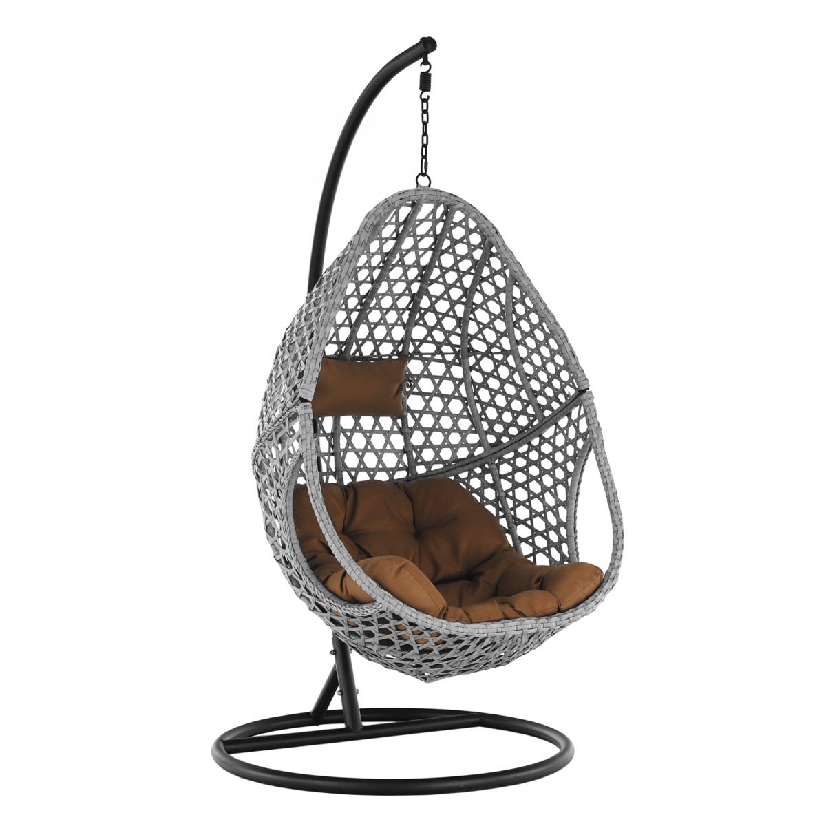 Függő szék, szürke/fekete/barna, NEUL