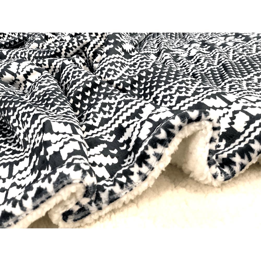 Kétoldalas bárány takaró, téli motívum, 150x200, MALENA