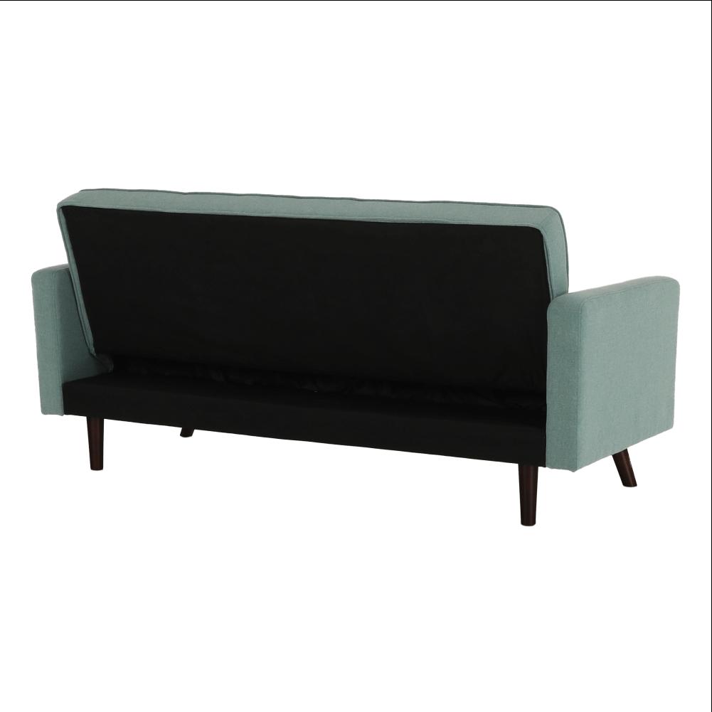 Kinyitható kanapé, zöld-mentol szövet, OTISA