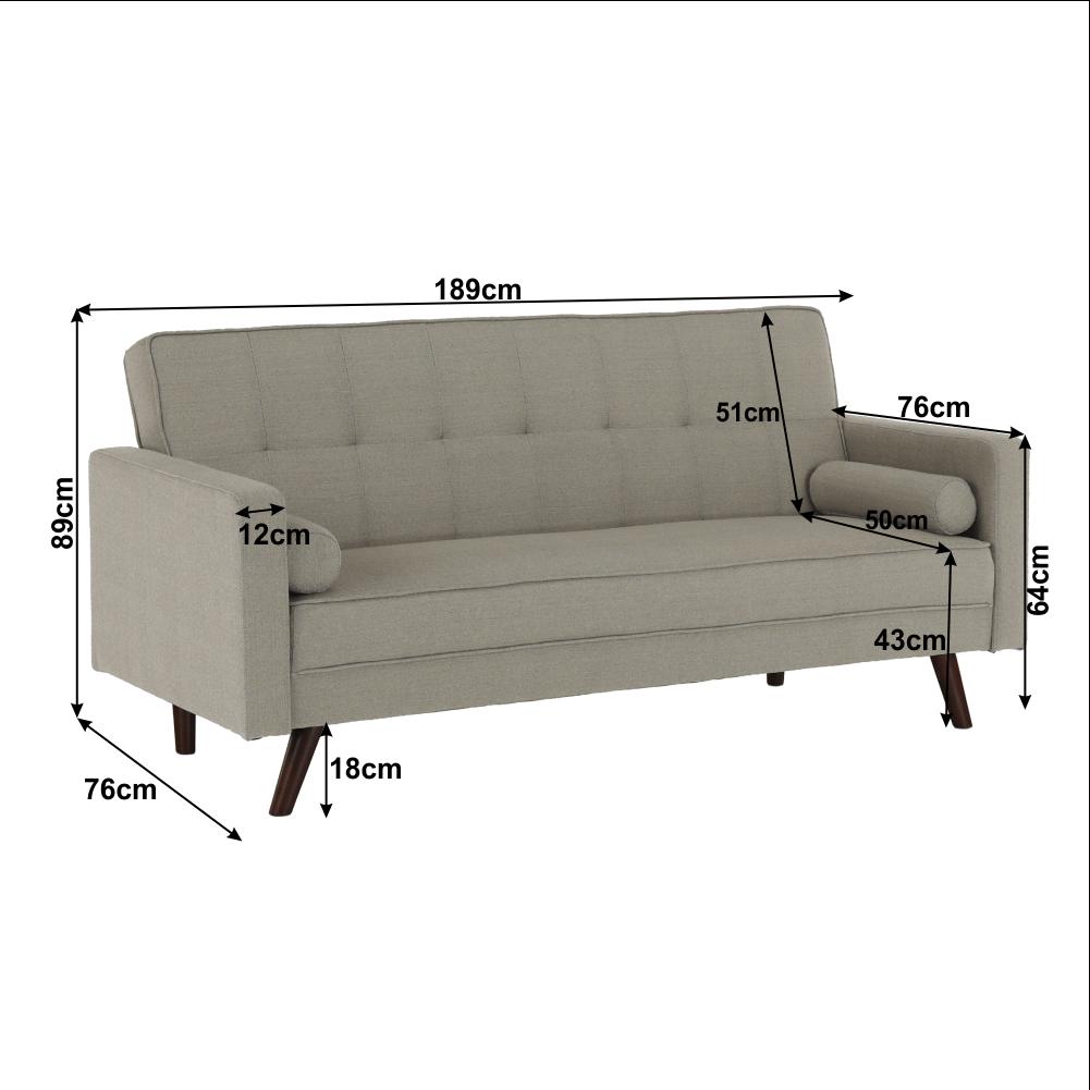 Kinyitható kanapé, szürke-barna TAUPE szövet, OTISA