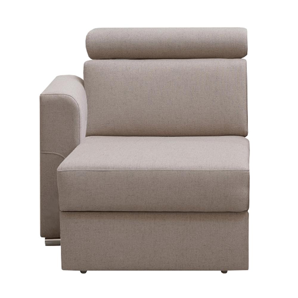 Tárolási terület OTT 1B ZP rendelésre luxus ülőgarnitúrához, bézs, bal, MARIETA