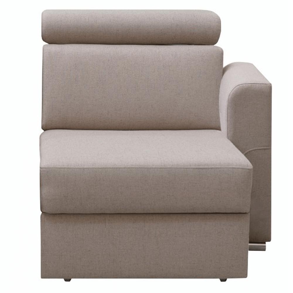Tárolási terület OTT 1B ZP rendelésre luxus ülőgarnitúrához , bézs, jobb, MARIETA