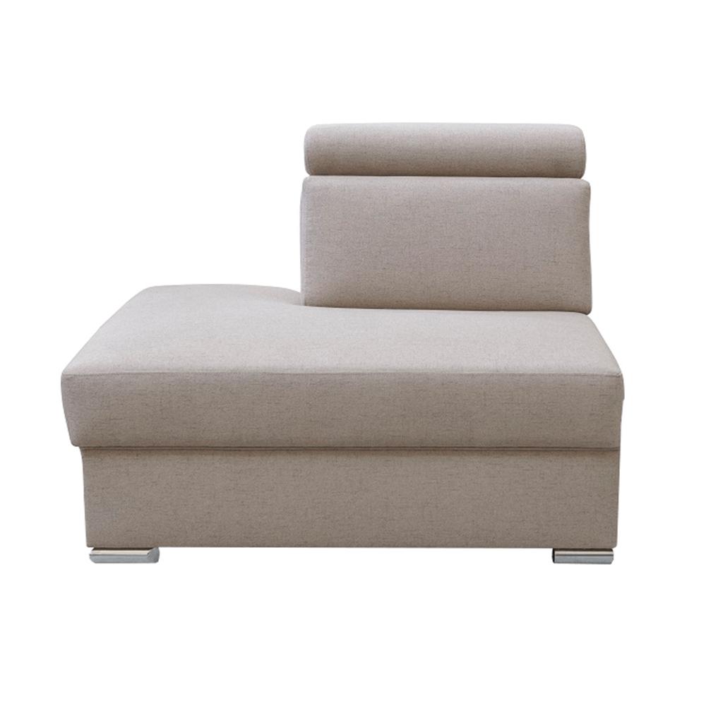 Ottomán OTT MINI rendelésre a luxus ülőgarnitúrához, bézs, balos, MARIETA