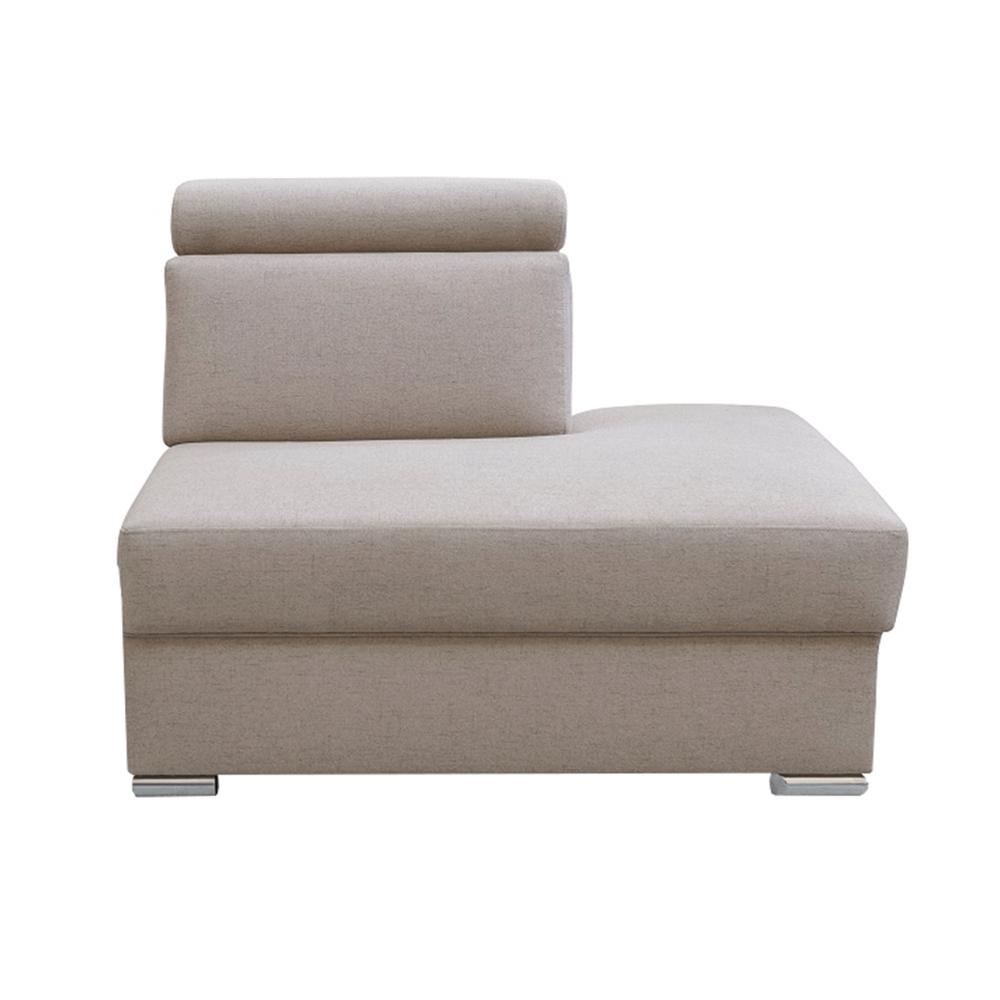 Tárolási terület OTT MINI rendelésre luxus ülőgarnitúrához, bézs, jobb, MARIETA