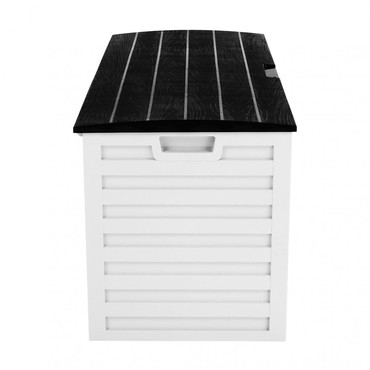 Kerti tároló doboz, fehér/fekete, PADMO