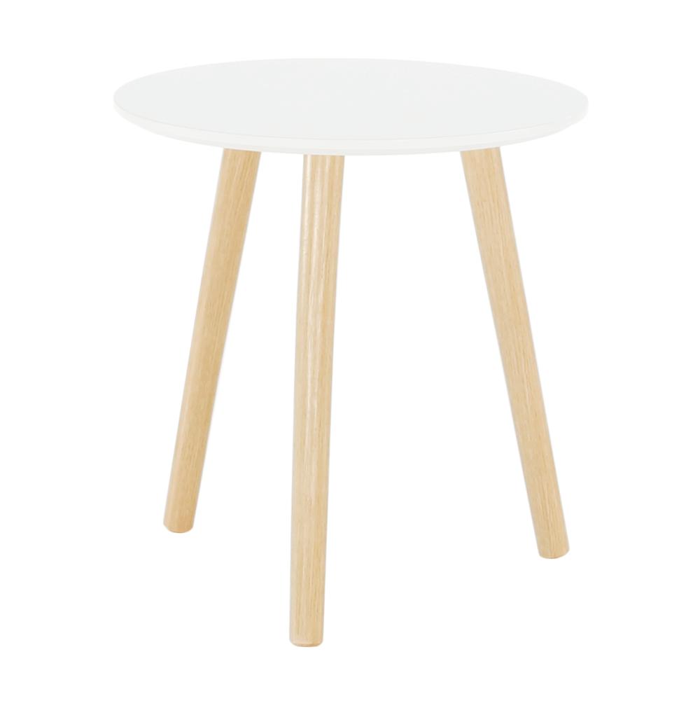 Kisasztal, fehér/természetes, PAMINO