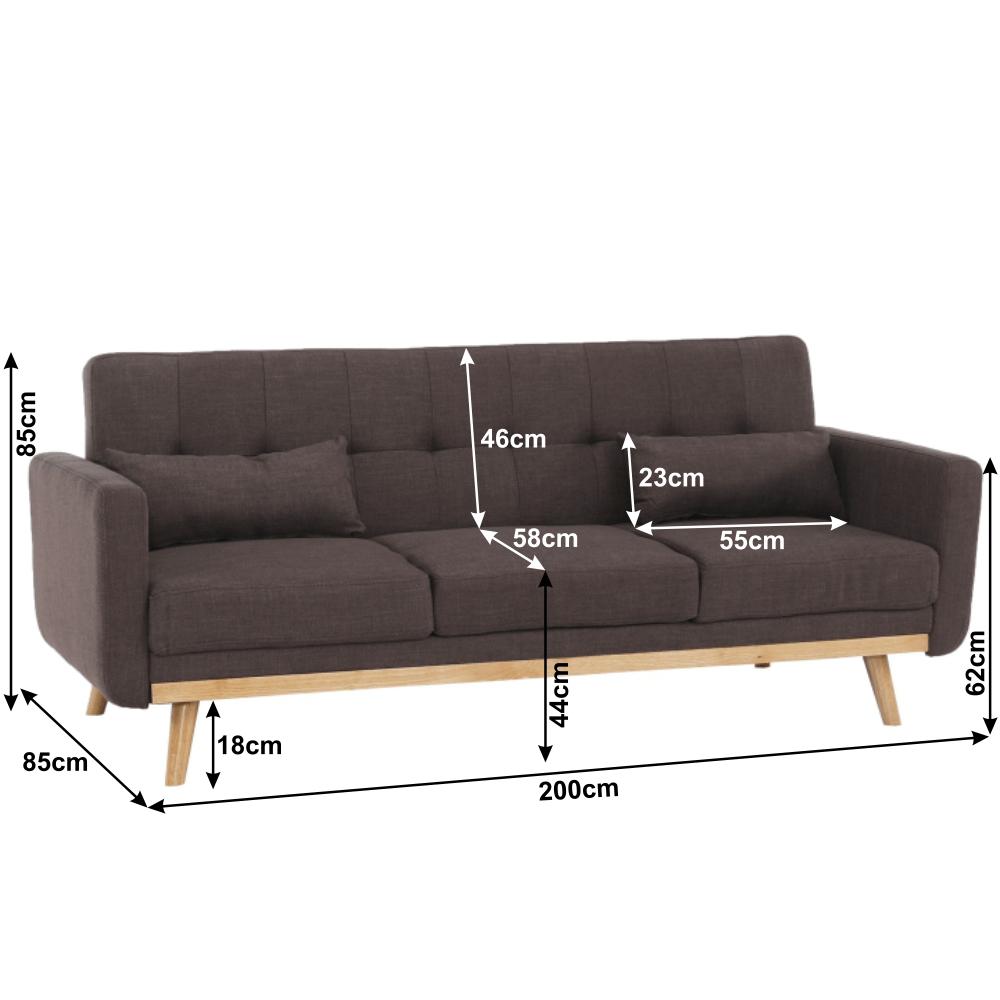 Kinyitható kanapé, barna, ARKADIA