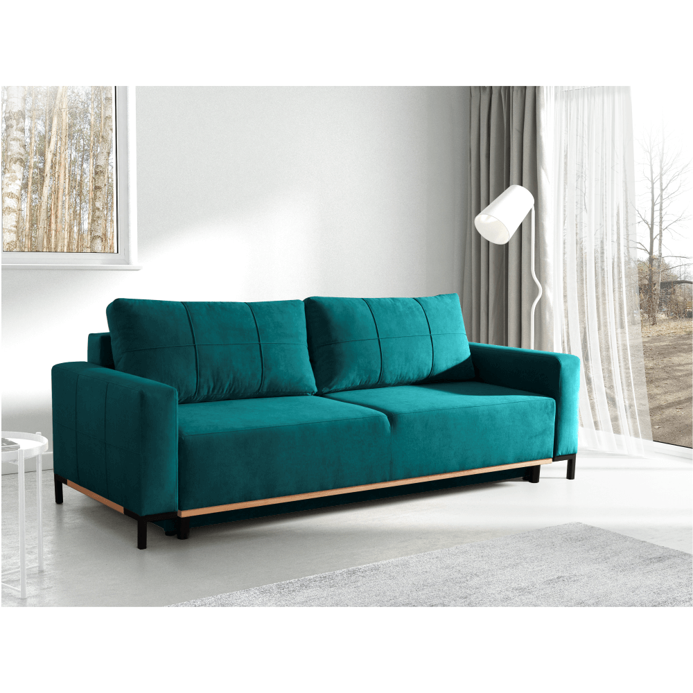 kanapé, türkiz, RAMOS
