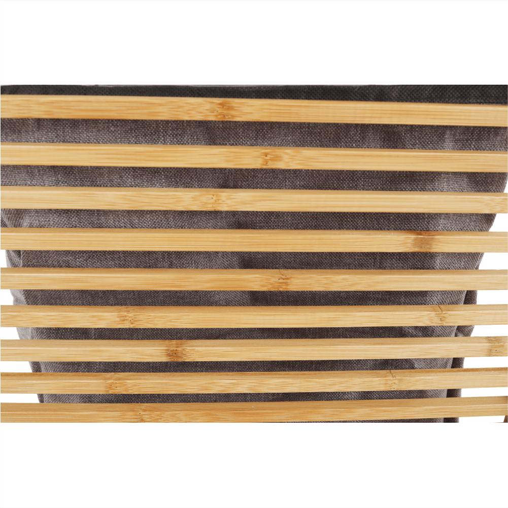 Szennyeskosár, natúr bambusz/szürke, POKO