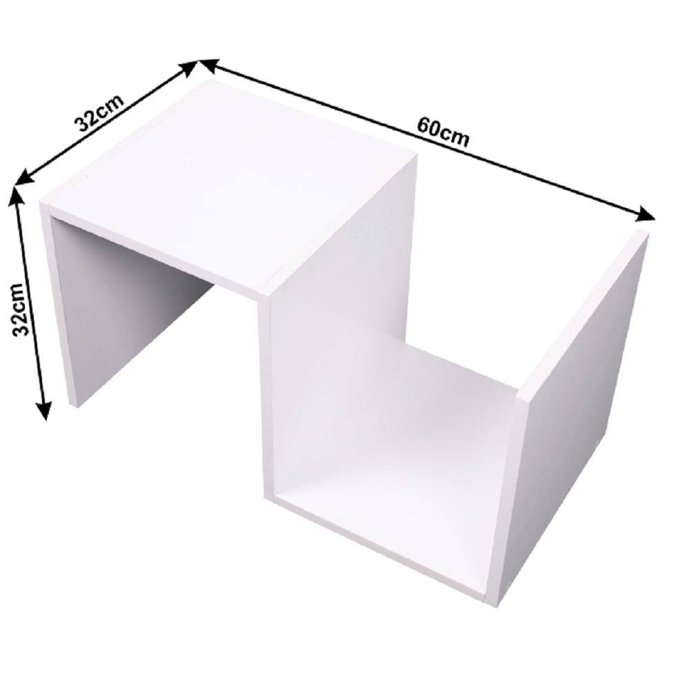 Kisasztal/polc, fehér, VALMAR