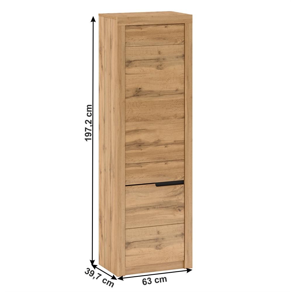Polcos szekrény V1, wotan tölgy, balos, TORONTA