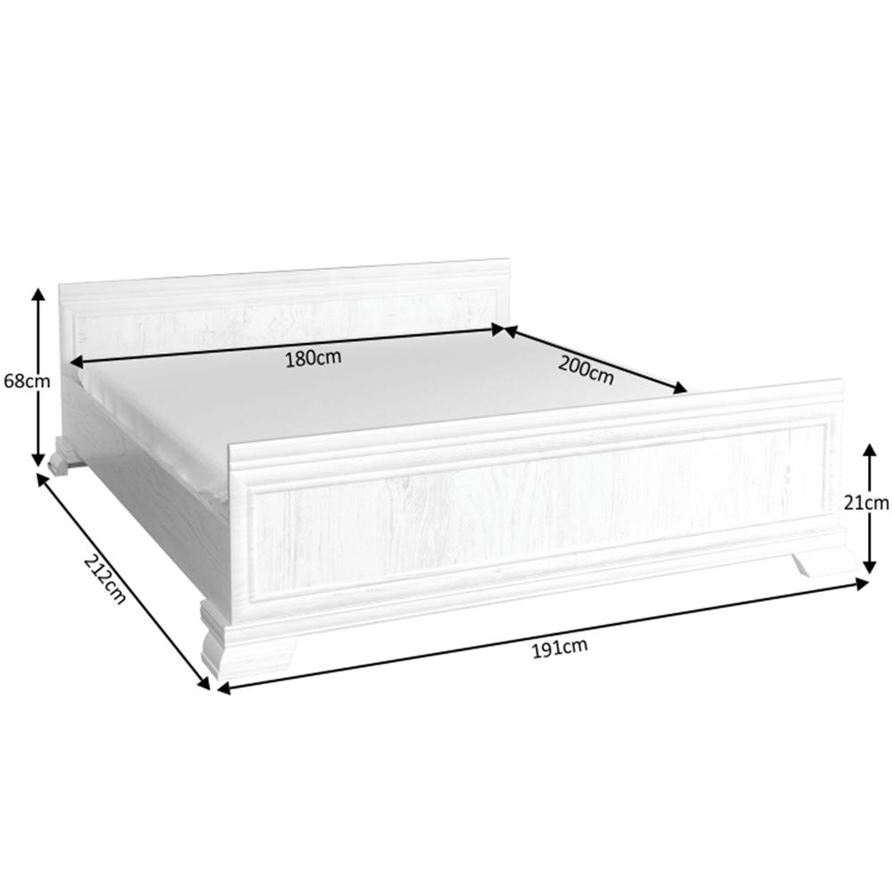 Ágy KLS2, sosna andersen, 180x200, KORA