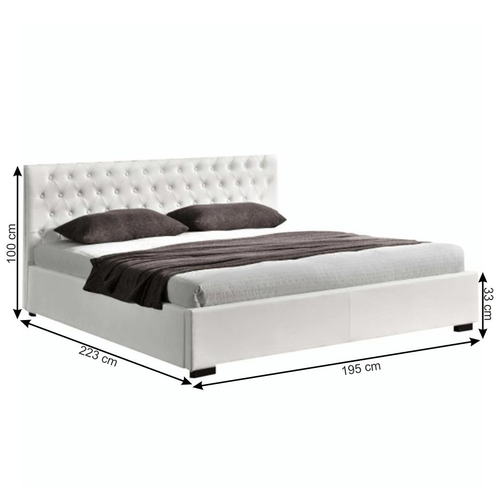 Ágy rakodótérrel, fehér, 180x200, DORLEN 2 NEW