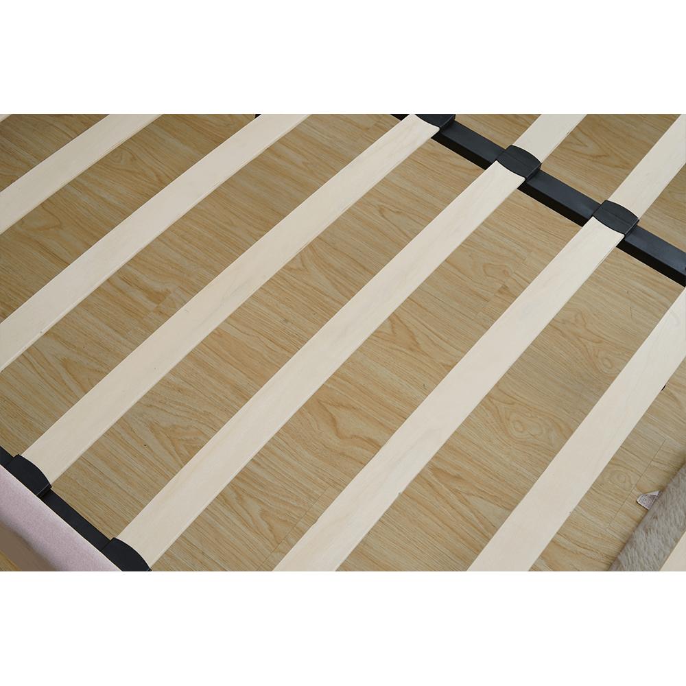 Ágy, rózsaszín/ króm arany matt, 140x200, KAISA