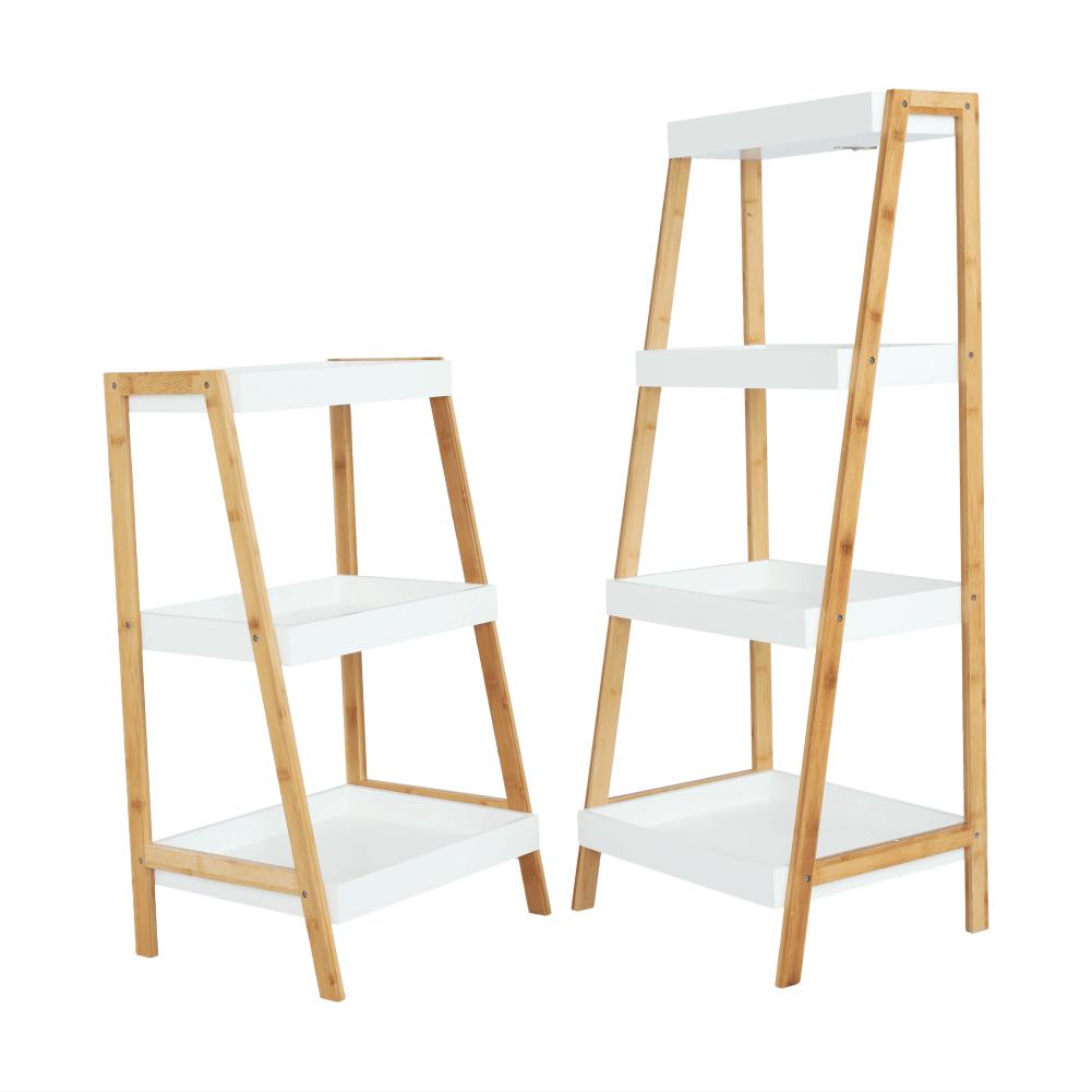 Polc, bambusz lakkozott/fehér, REGO 2