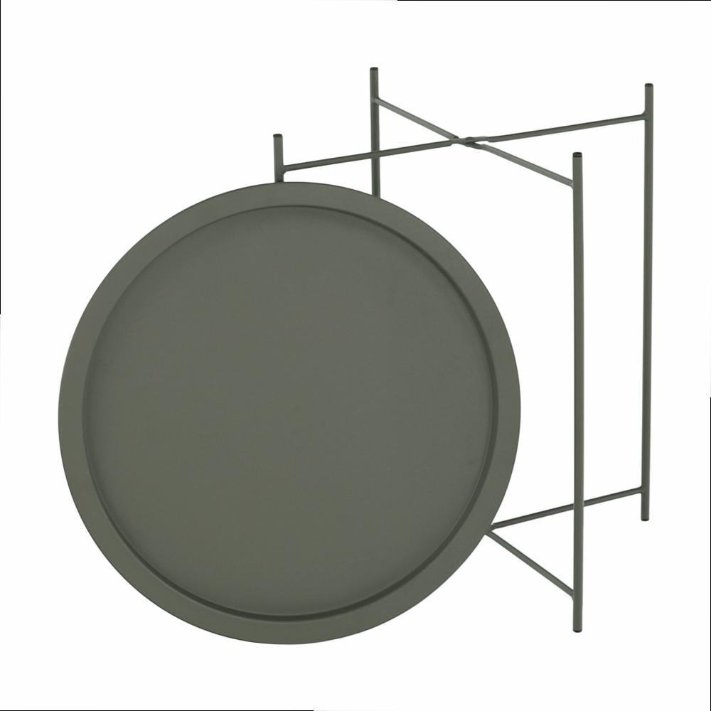 Kisasztal levehető tálcával, szürkészöld, RENDER
