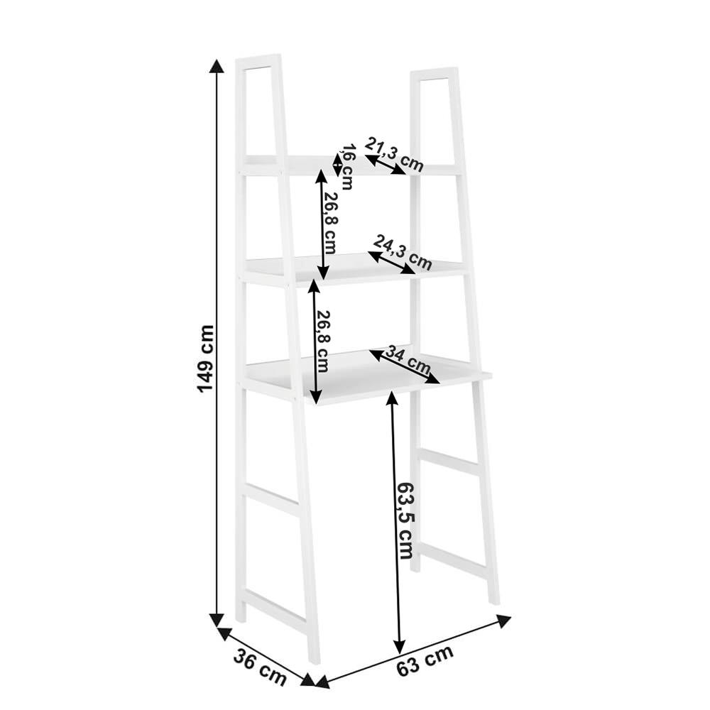 Többfunkciós 3 polcos állvány, fehér, REON TYP 4