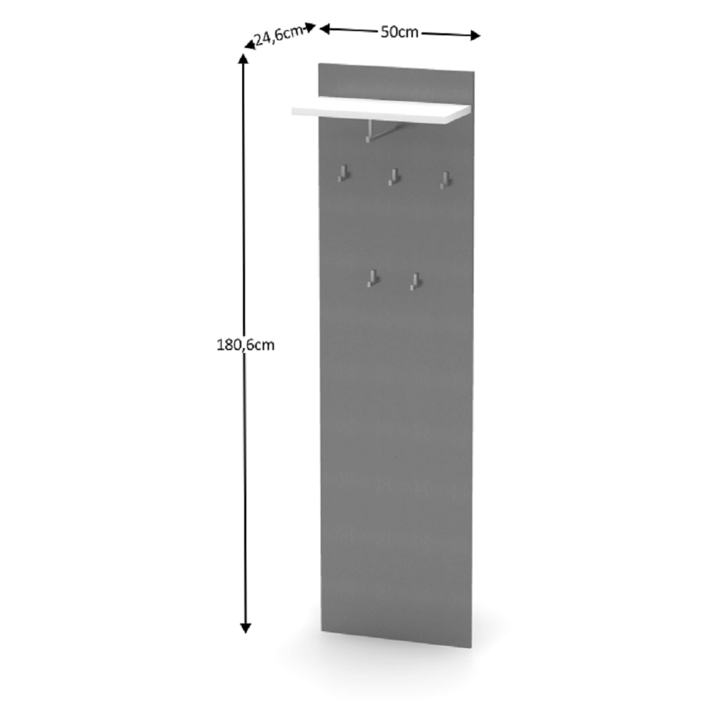 Fogas panel, grafit/féher, RIOMA NEW TYP 19