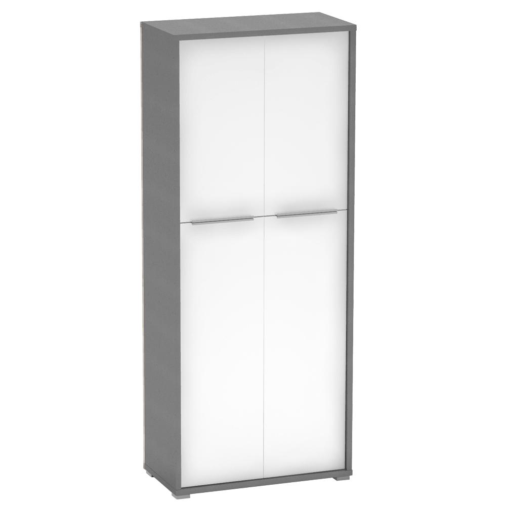 Polcos szekrény, grafit/fehér, RIOMA NEW TYP 07