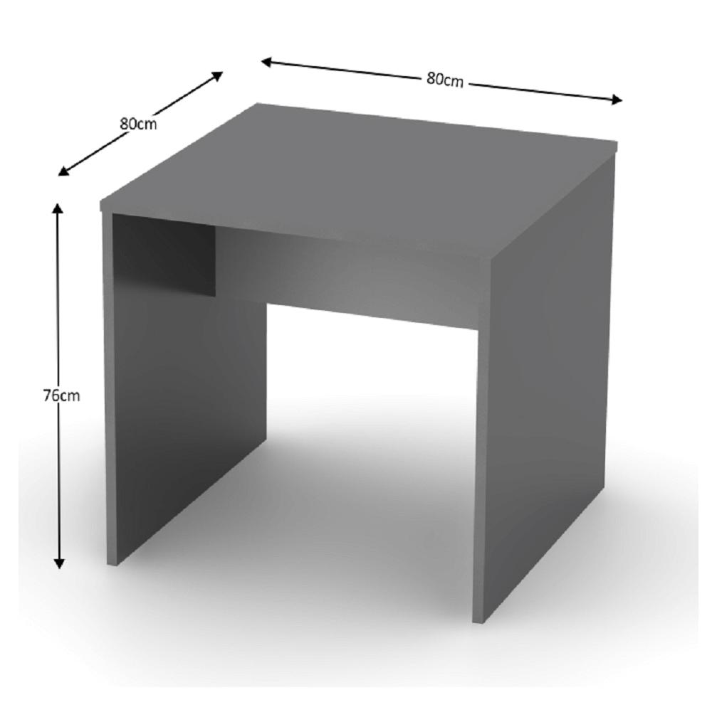 Íróasztal, grafit/féher, RIOMA NEW TYP 17