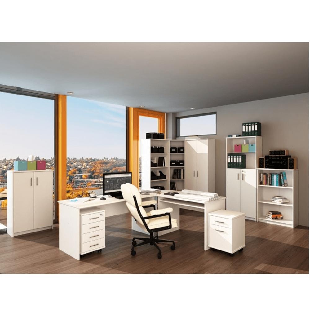 Kétoldalas íróasztal, fehér, JOHAN 2 NEW 08 JH112
