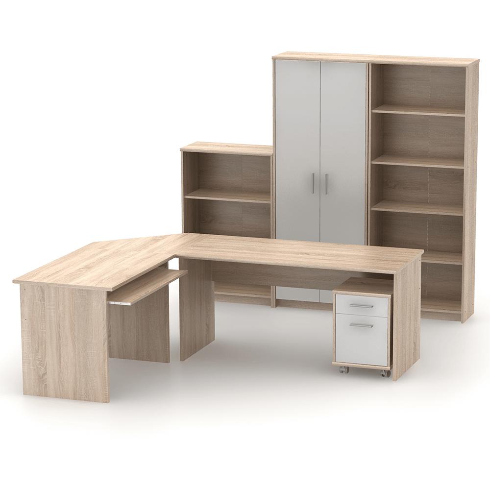 Íróasztal, sonoma tölgyfa, JOHAN 2 NEW 01