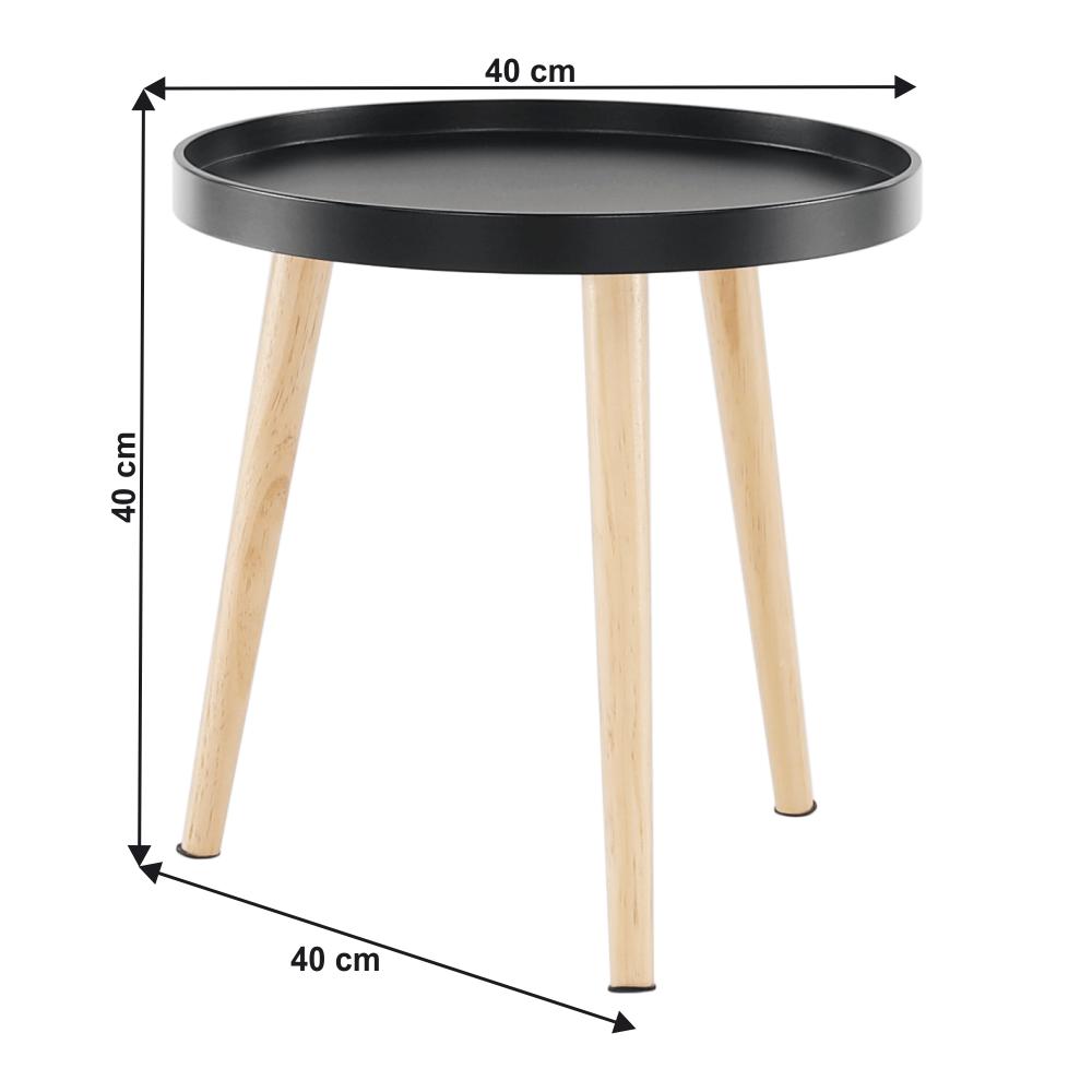 Kisasztal, fekete/természetes, SANSE TYP 2