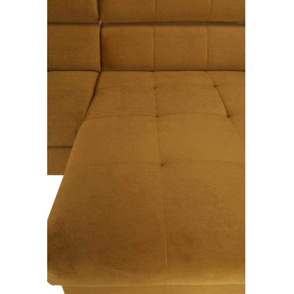 Ülőgarnitúra, méz/petróleum, jobbos kivitelezés, GINIO