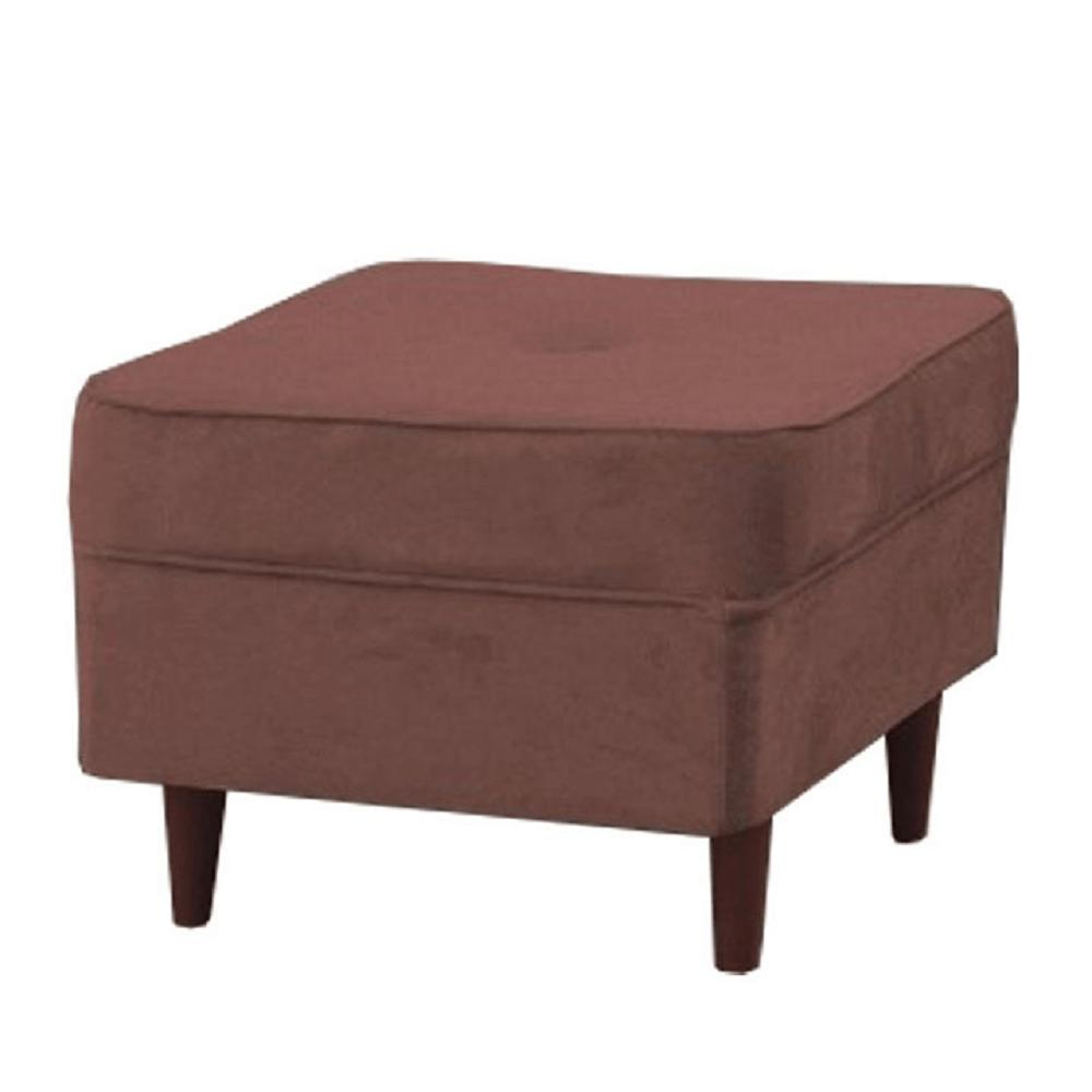 Modern puff, vén rózsaszín/dió, RUFINO