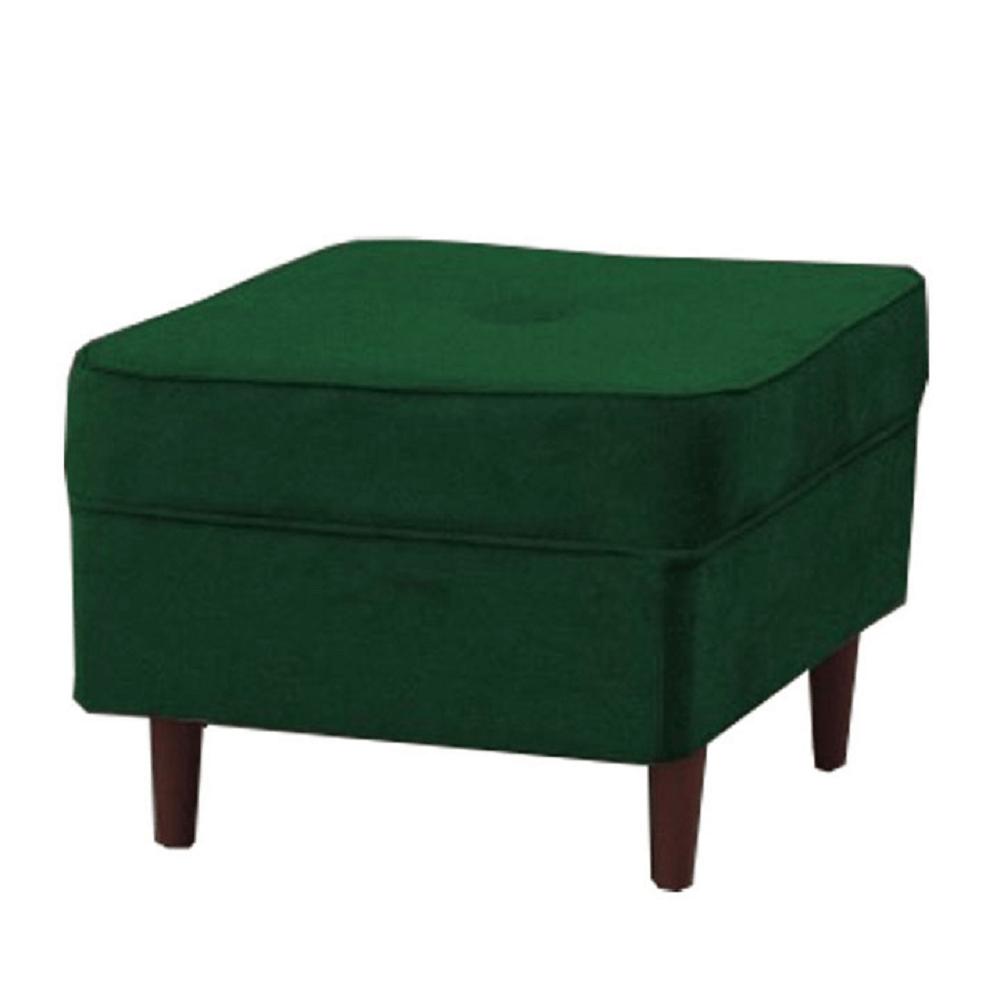 Modern puff, zöld/dió, RUFINO