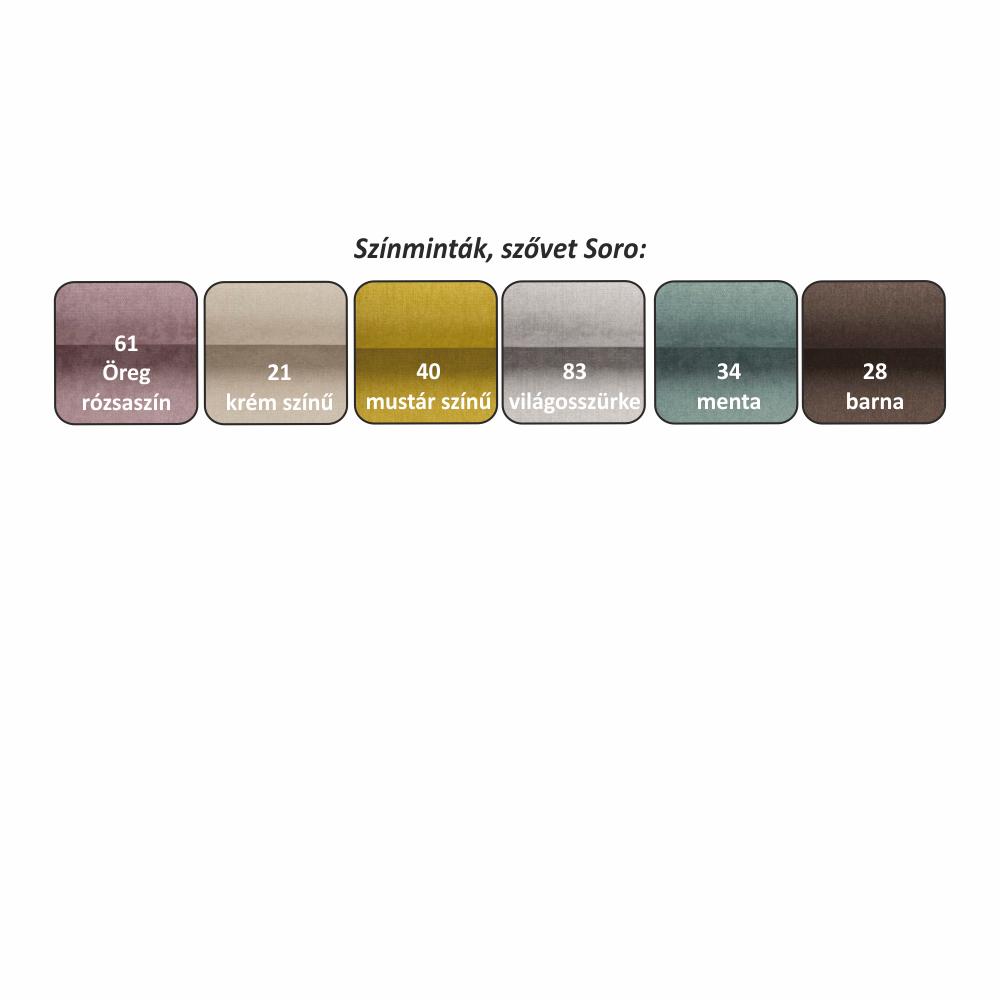 Kanapé, szürke, bal, PORTOS U
