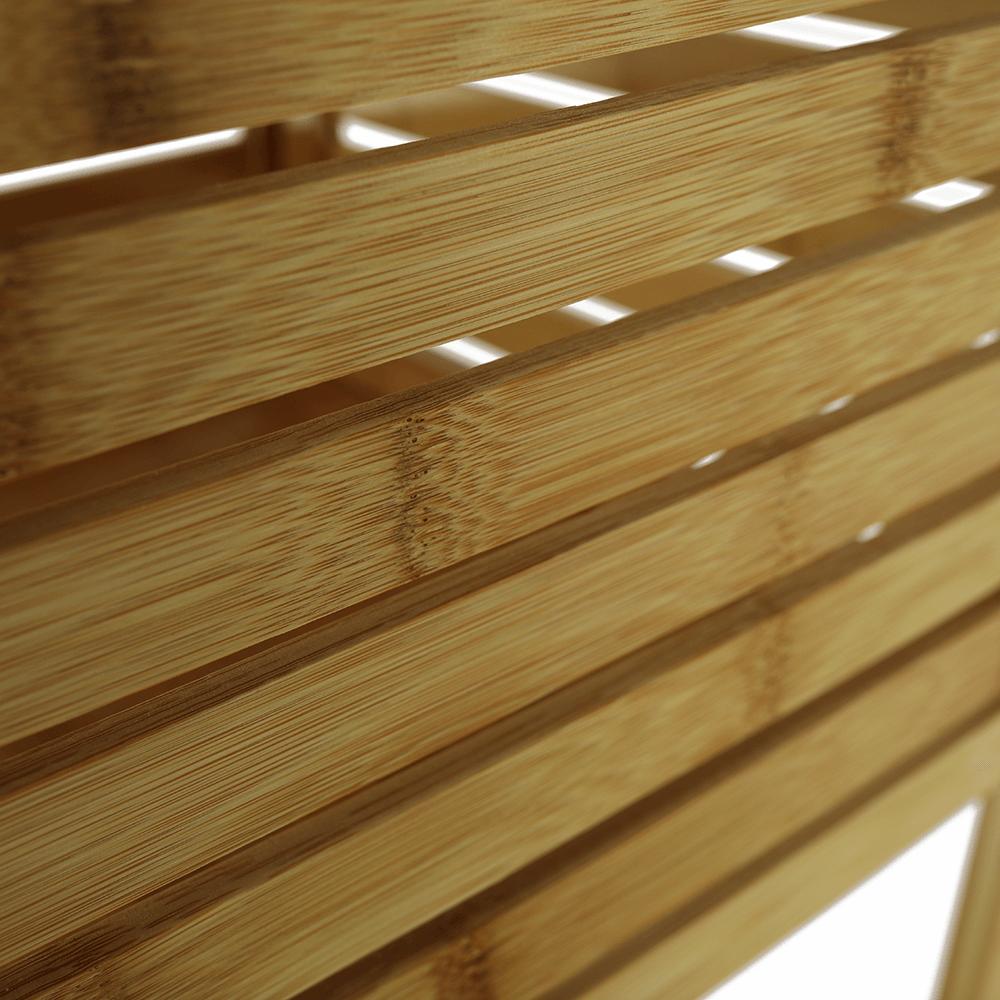 Polcos állvány, természetes bambusz, SELENE TYP 3