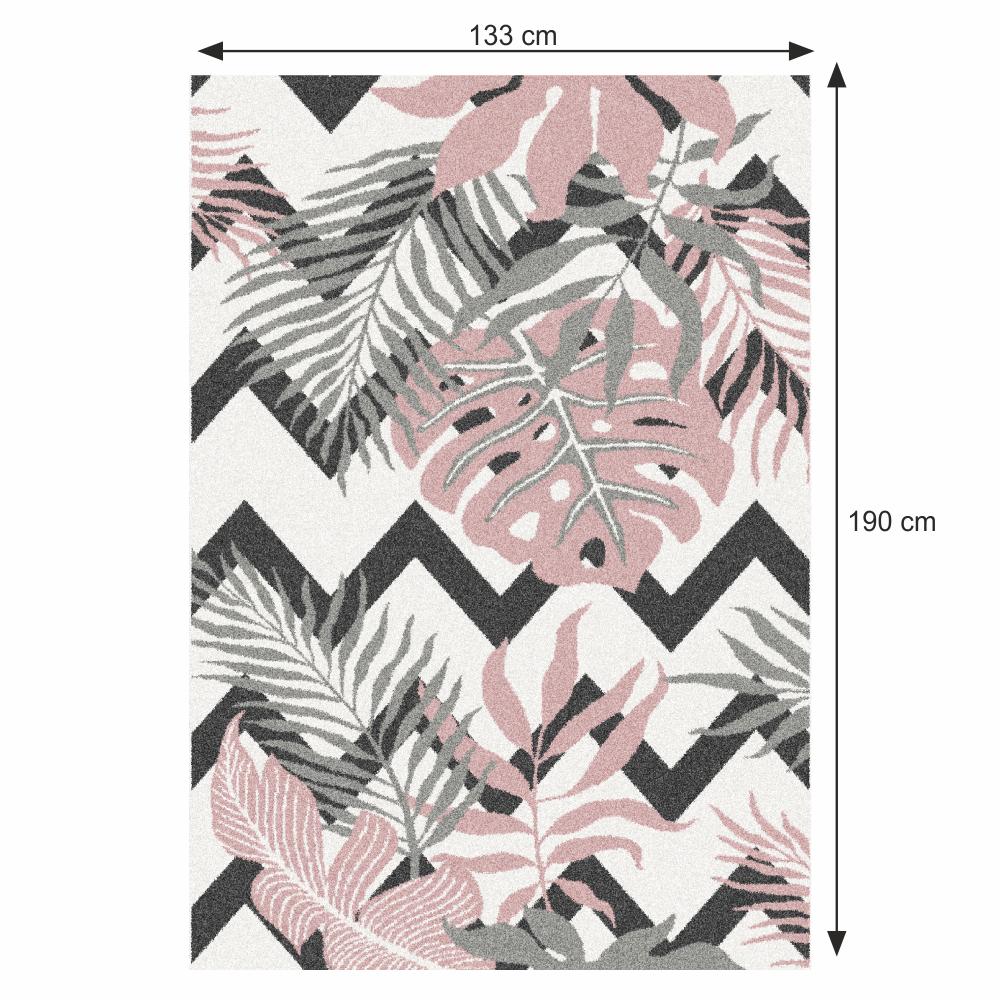 Szőnyeg, leveles minta, 133x190, SELIM