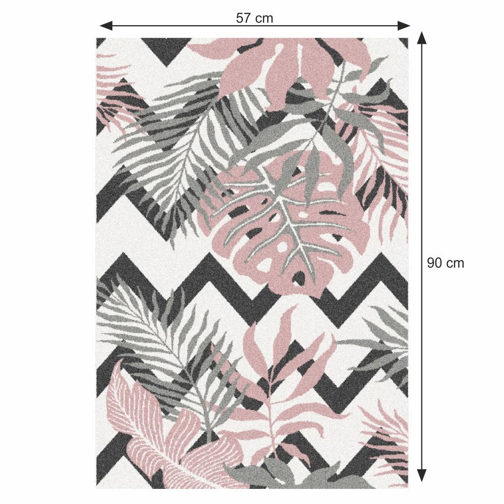Szőnyeg, sokszínű, leveles minta, 57x90, SELIM