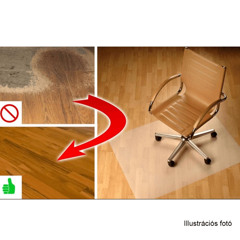 Védőalátét a szék alá, átlátszó, 100x70 cm, 0,8 mm, ELLIE NEW TYP 6