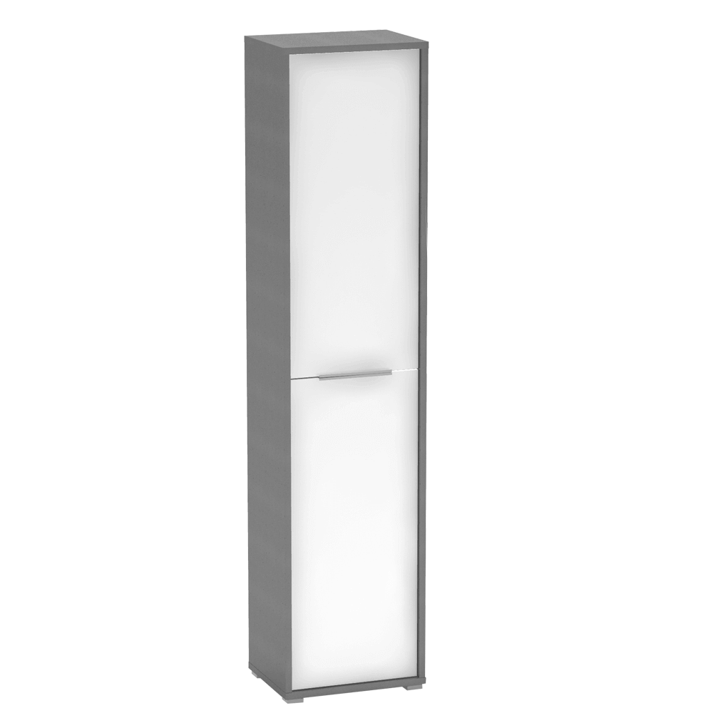 Magas polcos szekrény, grafit/fehér, RIOMA NEW TYP 06