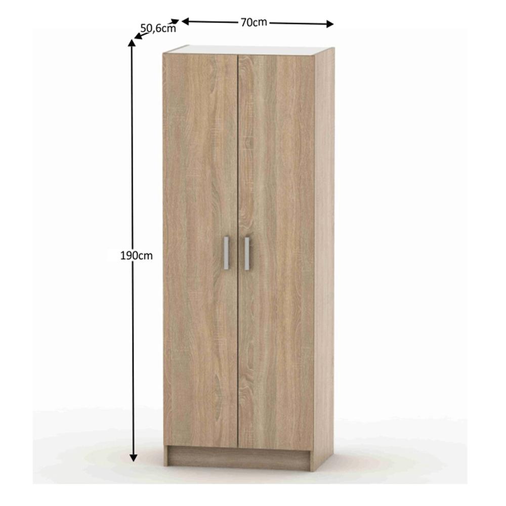 2-ajtós szekrény, akasztós, tölgy sonoma, BETTY 7 BE07-009-00
