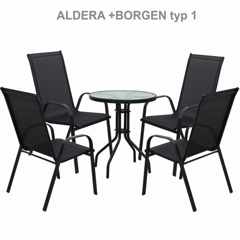 Rakásolható szék, sötétszürke/fekete, ALDERA