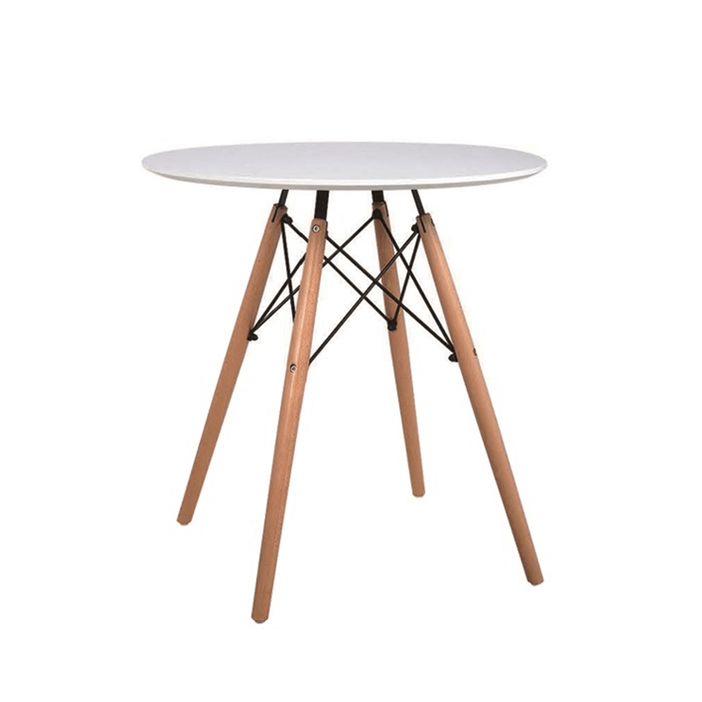 Étkezőasztal, fehér/bükk, GAMIN NEW 60