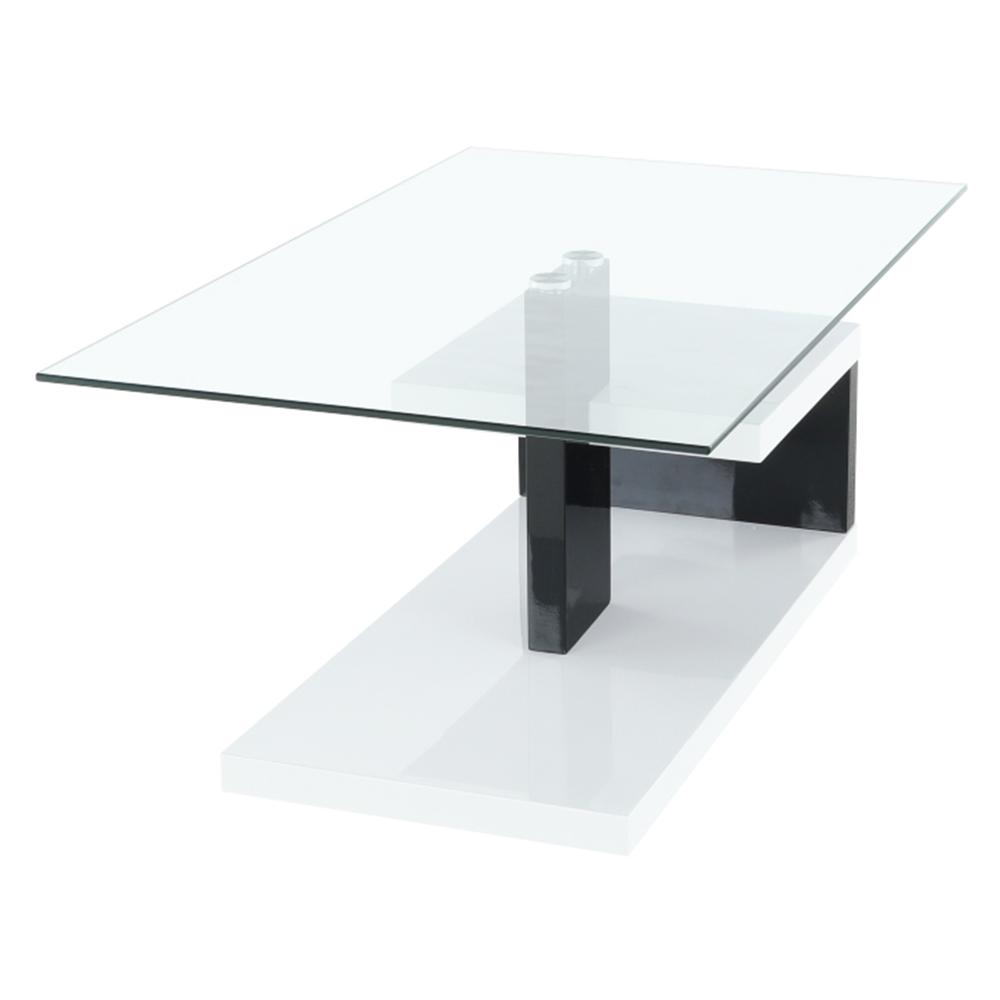 Kisasztal, fehér extra magas fényű HG/fekete extra magas fényű HG, LARS NEW