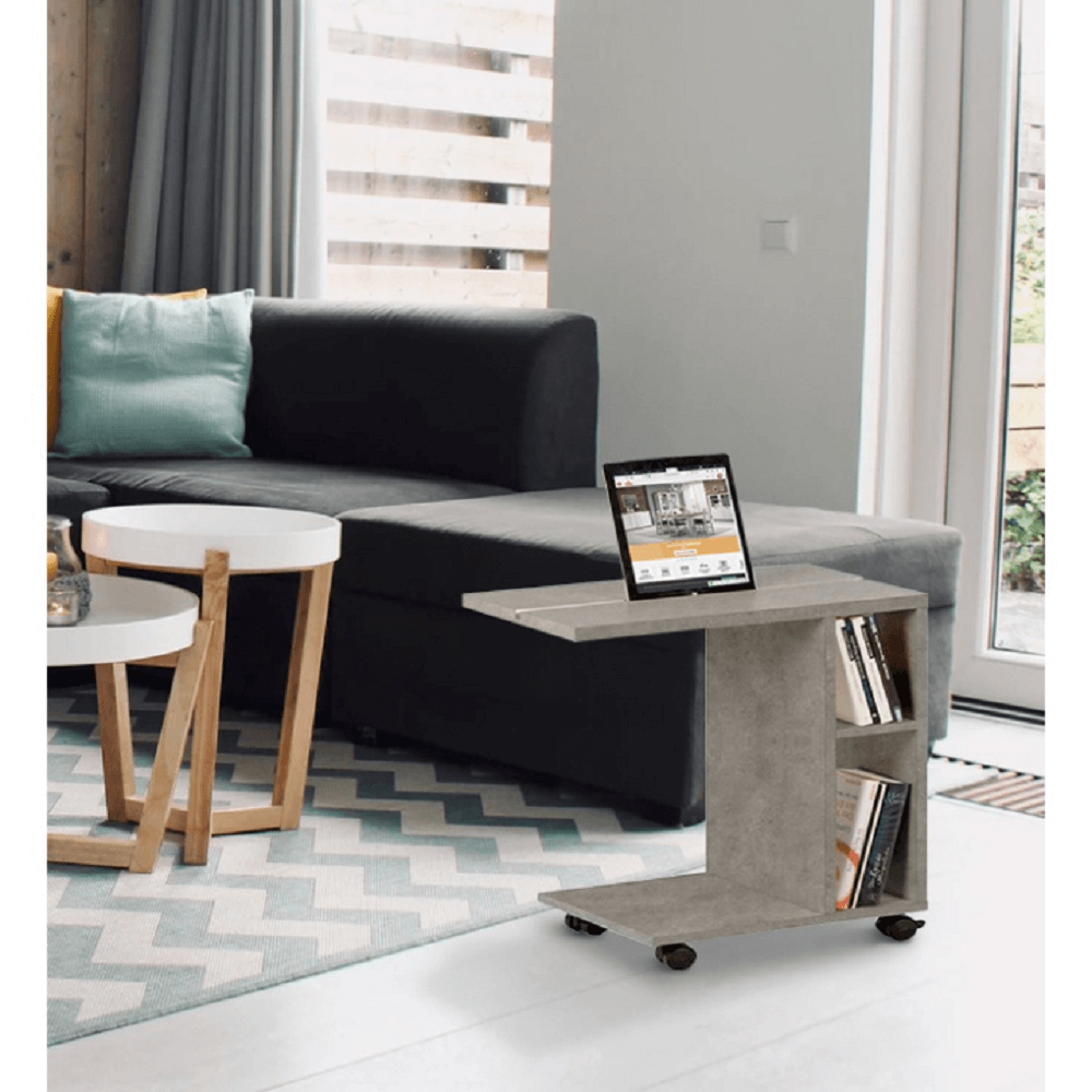 kisasztal, világos beton, NIDEN