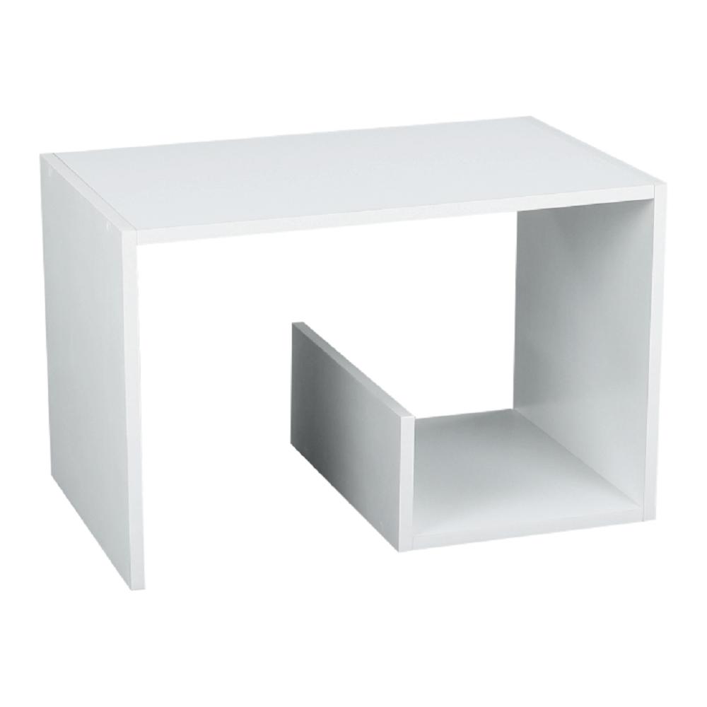 Kisasztal/polc, fehér, VOLKER