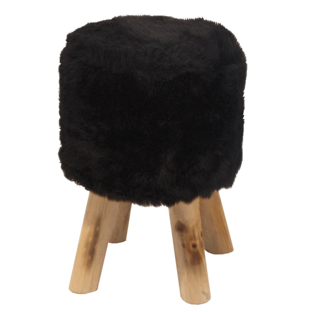 Puff, fekete szőrme/tűnyalábos fenyő, ALPIA