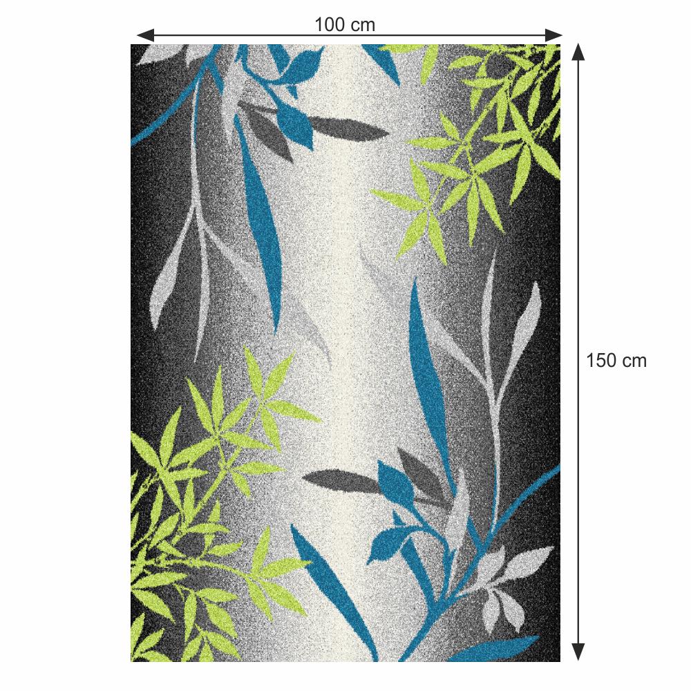 Szőnyeg, minta levelek, sokszínű, 100x150, TASNIM