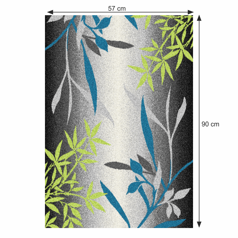 Szőnyeg, minta levelek, sokszínű, 57x90, TASNIM