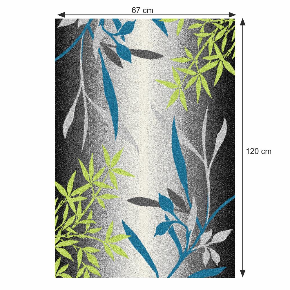Szőnyeg, minta levelek, sokszínű, 67x120, TASNIM