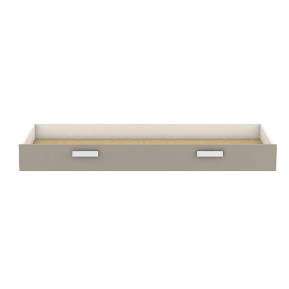 Ágy alatti tároló, fehér/szürke-barna taupe, TIDY